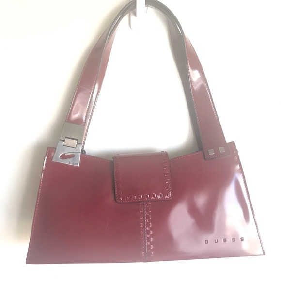 Guess Handbags - Guess Wine And Burnished Brass Structured Bag